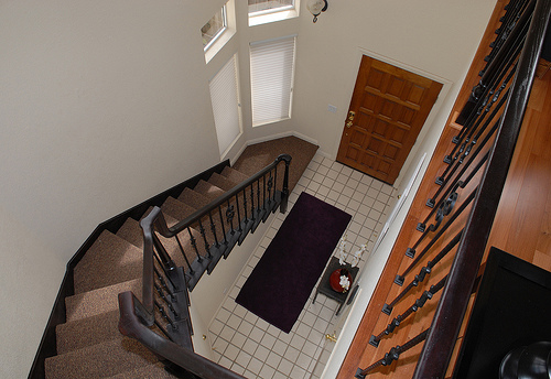 staircase leading to front door