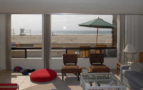 View of the Beach from the Livingroom